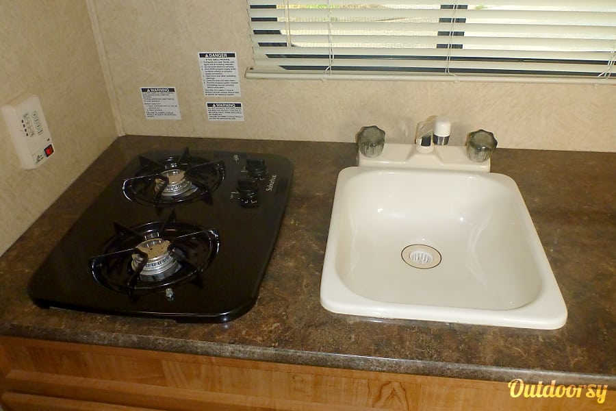 2014 Skyline Skycat Simi Valley, CA Two burner stove and sink