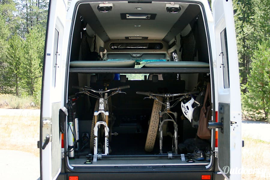 """""""GUS"""" THE SPRINTER ADVENTURE VAN -  RENO/TAHOE / AWESOME WAY TO GET OUT, STAY OUT, BE COMFORTABLE Reno, NV Plenty of room for all your gear combinations."""