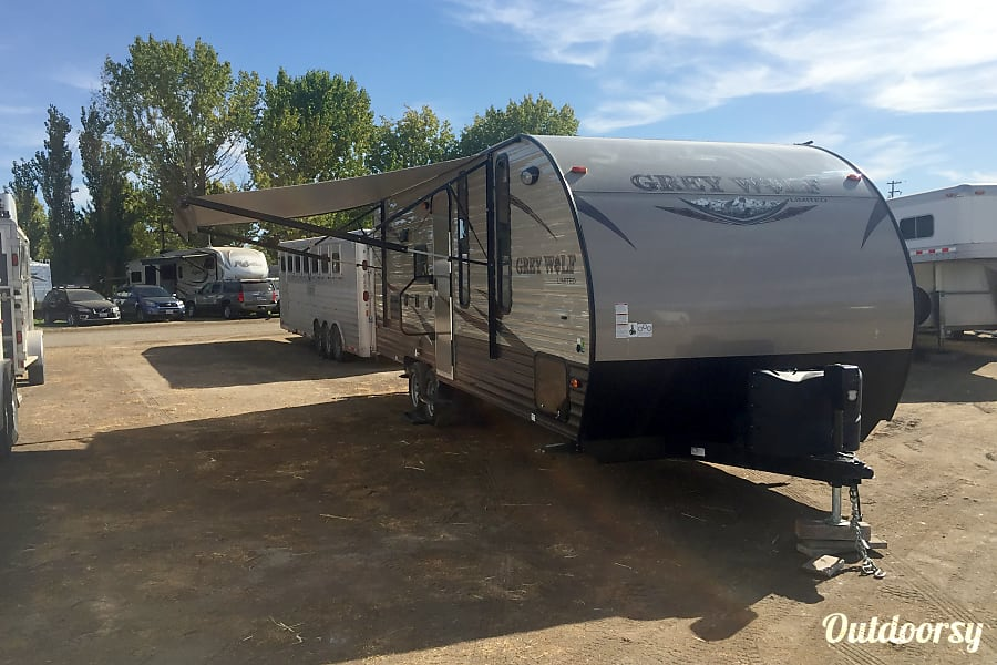 2016 Forest River Cherokee Grey Wolf 23BD Sacramento, CA FRONT VIEW WITH AWNING