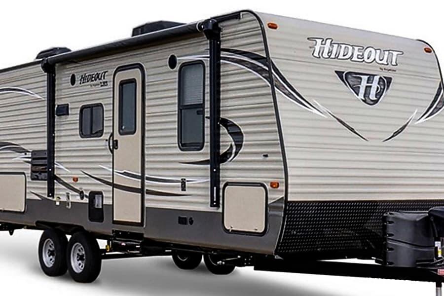 exterior 2017 Keystone Hideout 212 LHS Newnan, GA