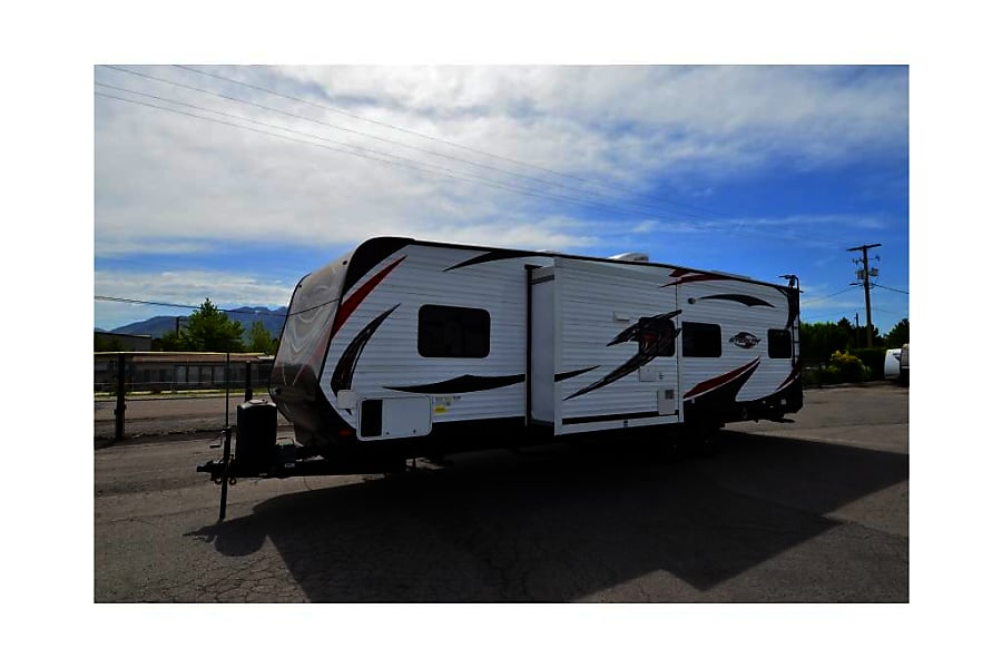 2017 Forest River Stealth Lake Havasu City, AZ Stealth WAFQ2916 Outside Slideout Front View Kitchen