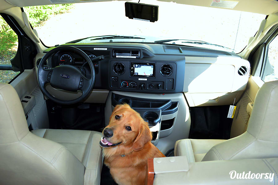 BRAND NEW Luxury RV - 2017 Sunseeker Sleeps 10 Theodore, AL Bring the pupper along!  We're pet friendly, and has GPS and cameras all over for yours and your pupper's safety.