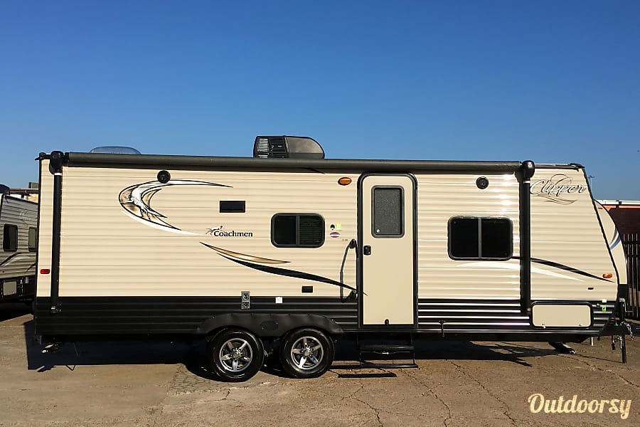 "exterior 2017 Coachman Clipper (21') - nicknamed ""Amarillo"" Houston, TX"