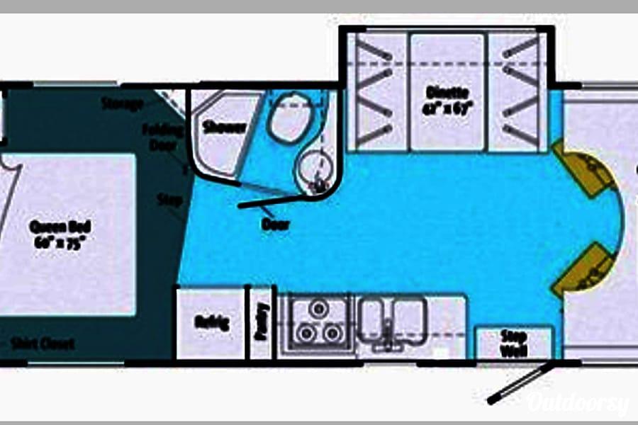 2011 Winnebago Access Premier QP! West Linn, OR Floor Plan