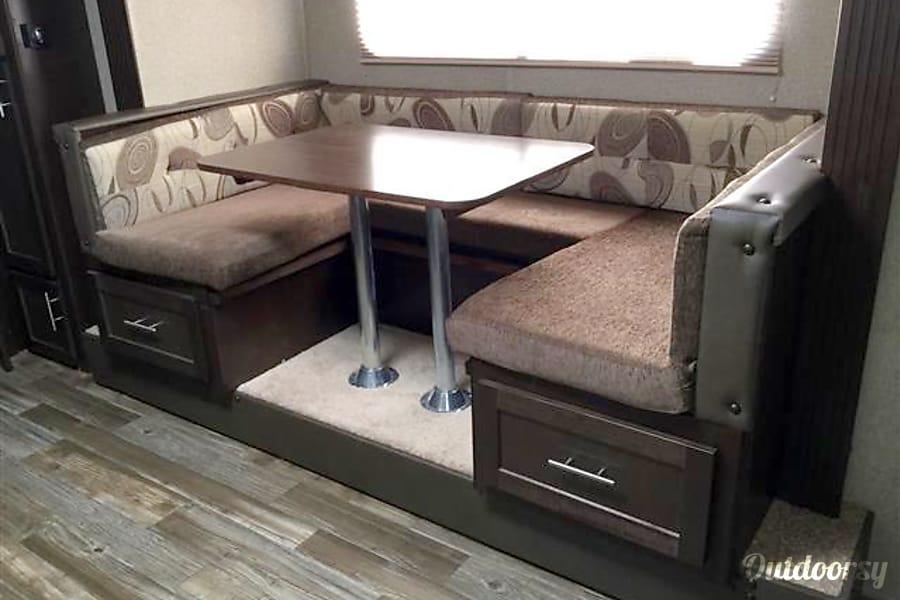 29'  Patriot Phoenix, AZ Dining Table -Large U-Shape converts into sleeping area