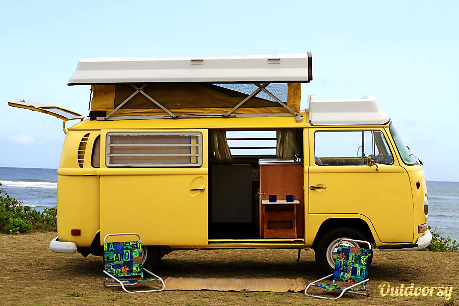 4345ca0ee7 1970 Volkswagen Bus Motor Home Camper Van Rental in Wahiawa