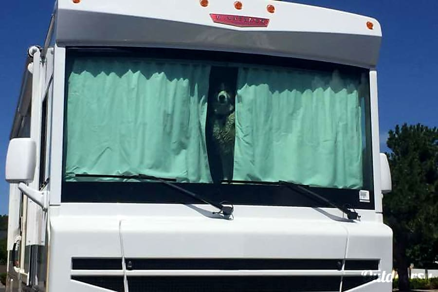 2016 Winnebago Brave 31C Phoenix, AZ Front of the RV, Security Dog not included.