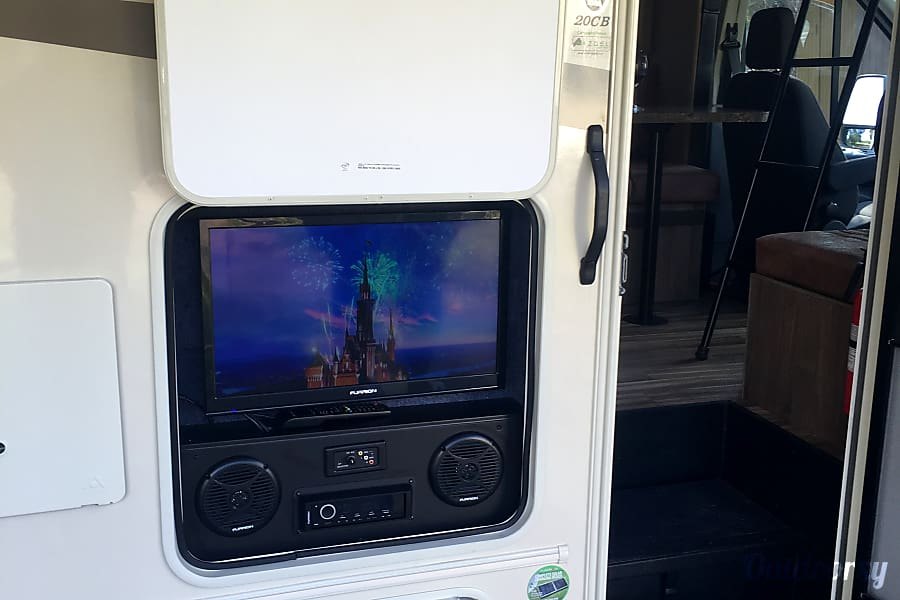 2017 California Freelander Micro La Mesa, CA Relax and watch a movie on the outdoor TV!