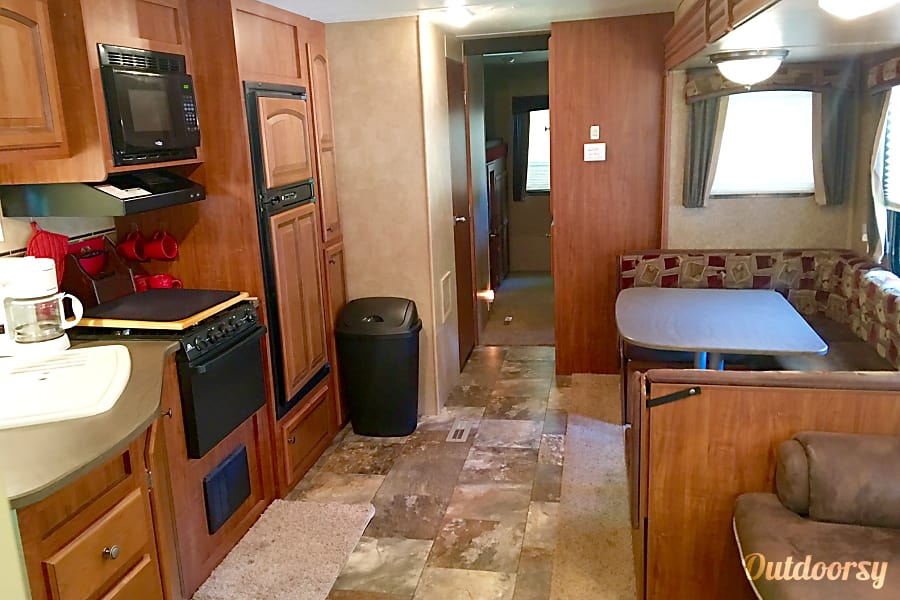 interior Jayco Jay Flight 32' Bunkhouse Double Slide with Outdoor Kitchen Holland, MI