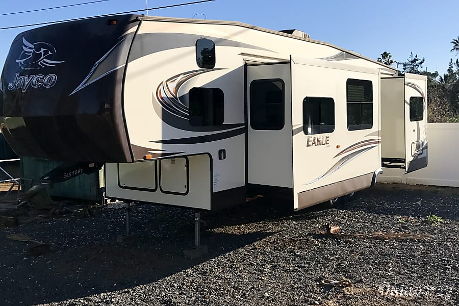 2015 Jayco Eagle Riverside, CA Two slides that give you plenty of room inside the trailer