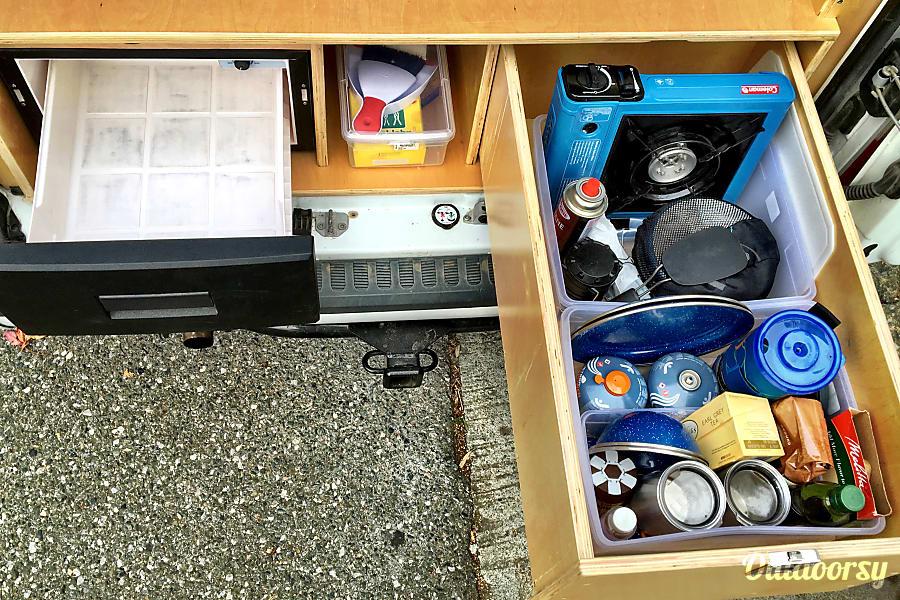 Woogie--2013 Glampervan Model 2S San Francisco, CA Fridge, camping kitchen, pantry