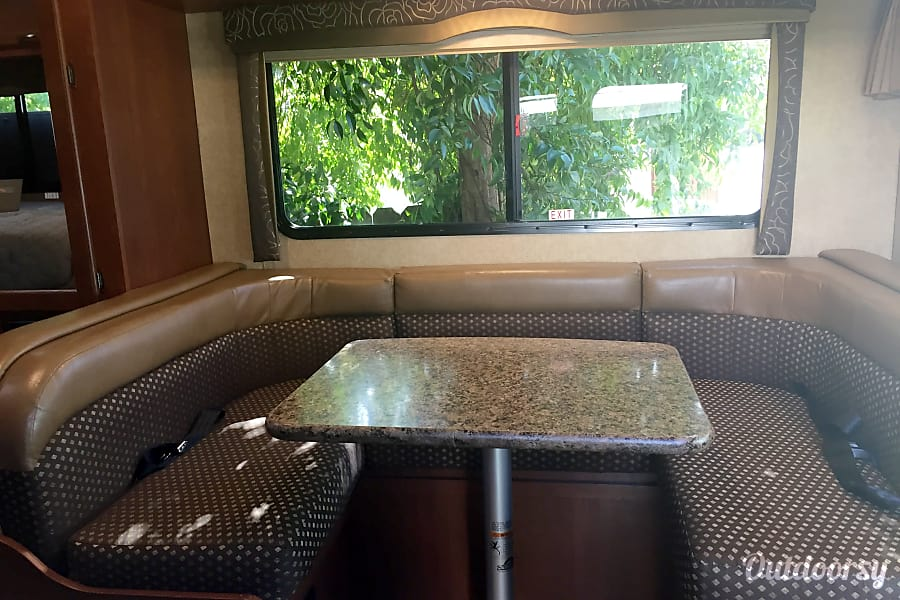 The Camping Truck Lodi, CA The dinette is a great place to enjoy a glass of wine and a game of cards at the end of the day. It also converts into a single bed. When you are on the road, there are 3 seatbelts.