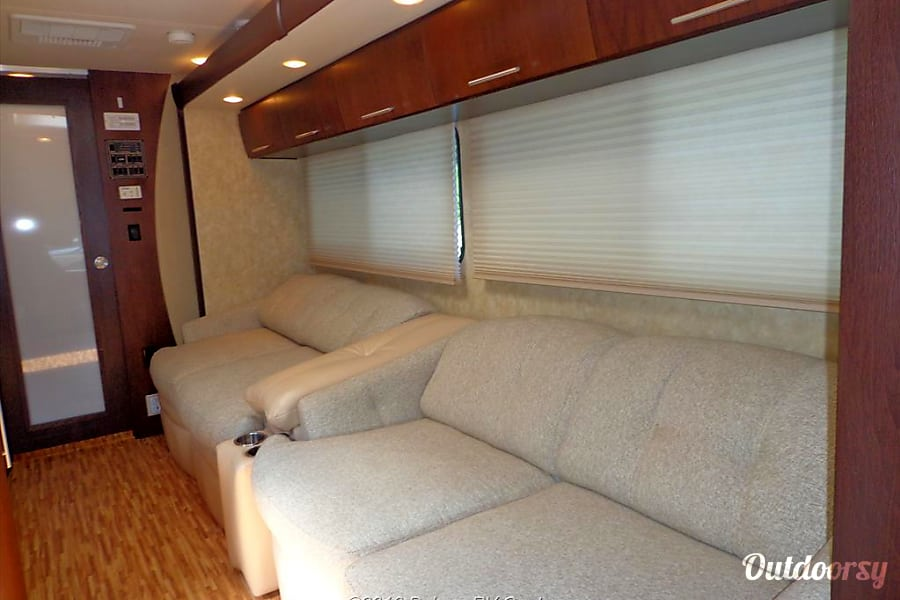 2009 Coachmen Prism Deptford Township, NJ Very comfortable dual sofas. One folds out into full size bed while the other trades the dining table.