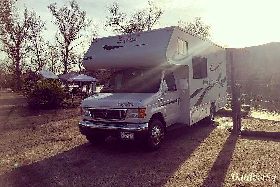 The Leamon Party Bus!  (24 ft, Sleeps 6+) Escondido, CA Sun setting at Santee Lakes near San Diego, CA