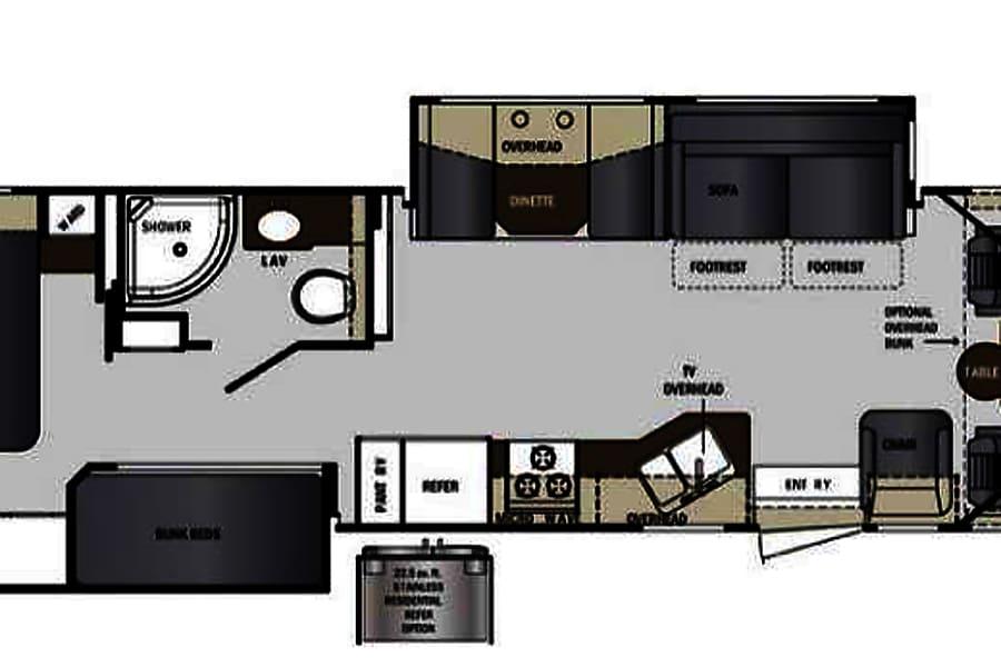 2015 Georgetown 35' bunkhouse Perris, CA