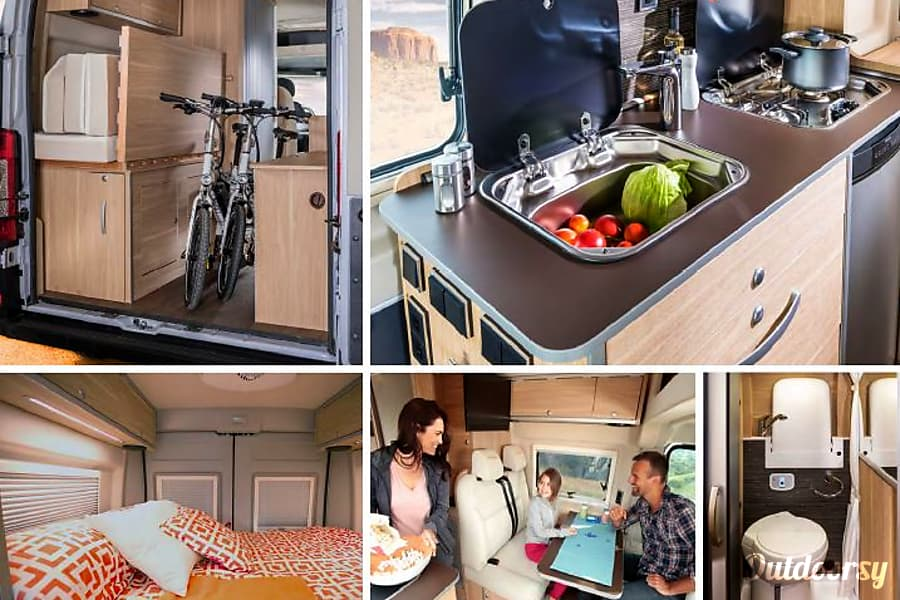 2017 Hymer Aktiv Motor Home Class B Rental In Los Angeles