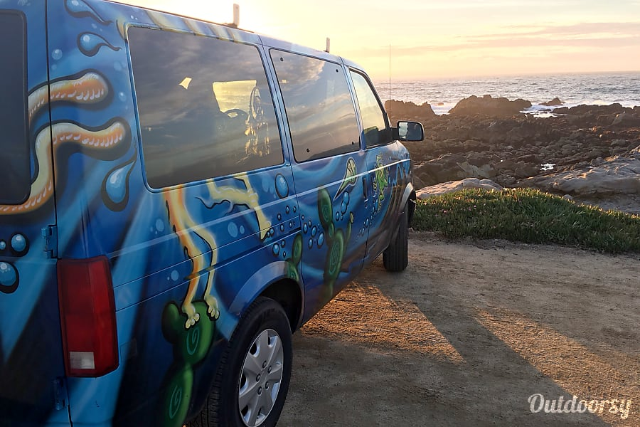 exterior Funky Cozy 1999 chevy astrovan Pacific Grove, California
