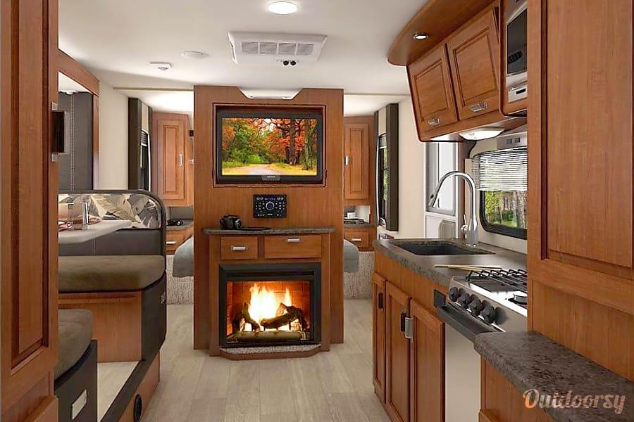 interior 2016 Lance 2295, 27ft, Weight 4640 Lbs. Woodland, WA