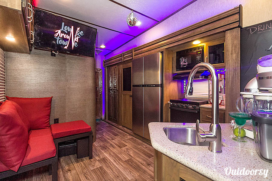 Ultimate tailgater/ hospitality trailer Boston, MA another sitting area in the bar area