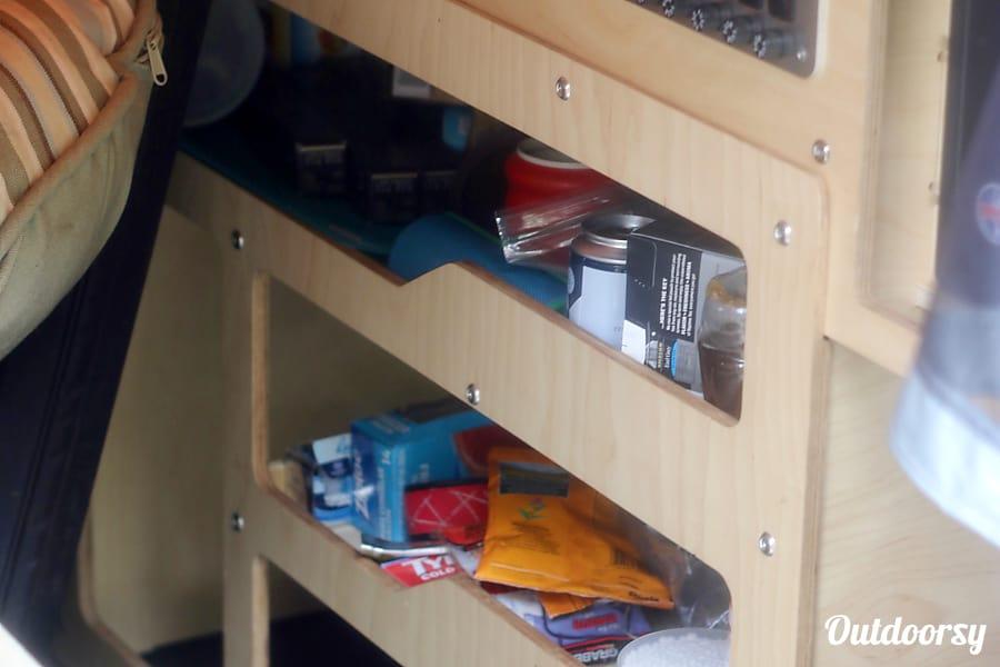 2016 Cricket Trailer Cricket Denver, CO Under counter storage shelves