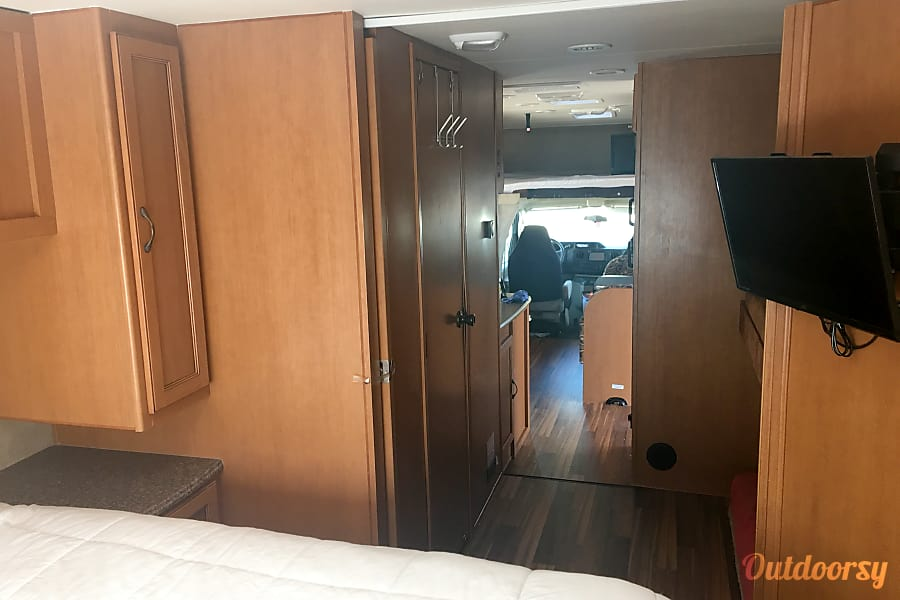2014 Coachman Freelander 32 bh Tempe, AZ From back bedroom looking forward
