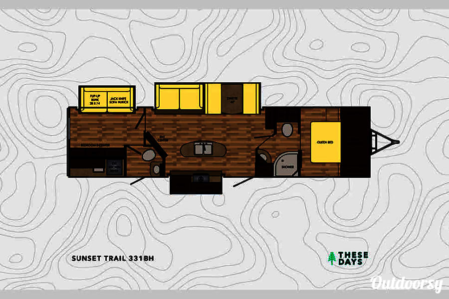 2017 Sunset Trail - Perfect Bunkhouse Trailer Knoxville, TN Floor plan