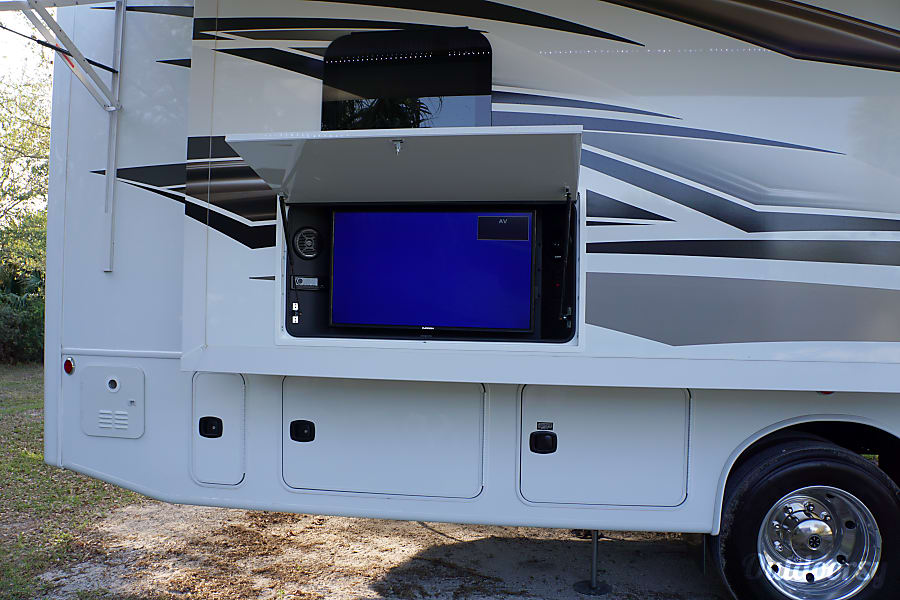 Good 2017 Jayco Precept Port St. Lucie, FL Outside Entertainment System