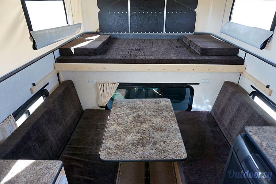 interior Grandby Four Wheel Camper on GMC Sierra Jackson, WY