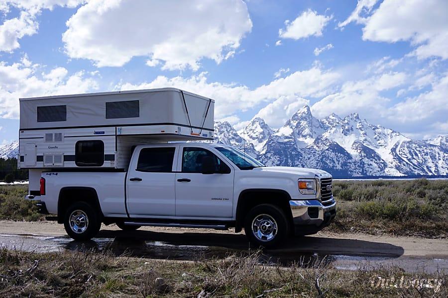 exterior Grandby Four Wheel Camper on GMC Sierra Jackson, WY