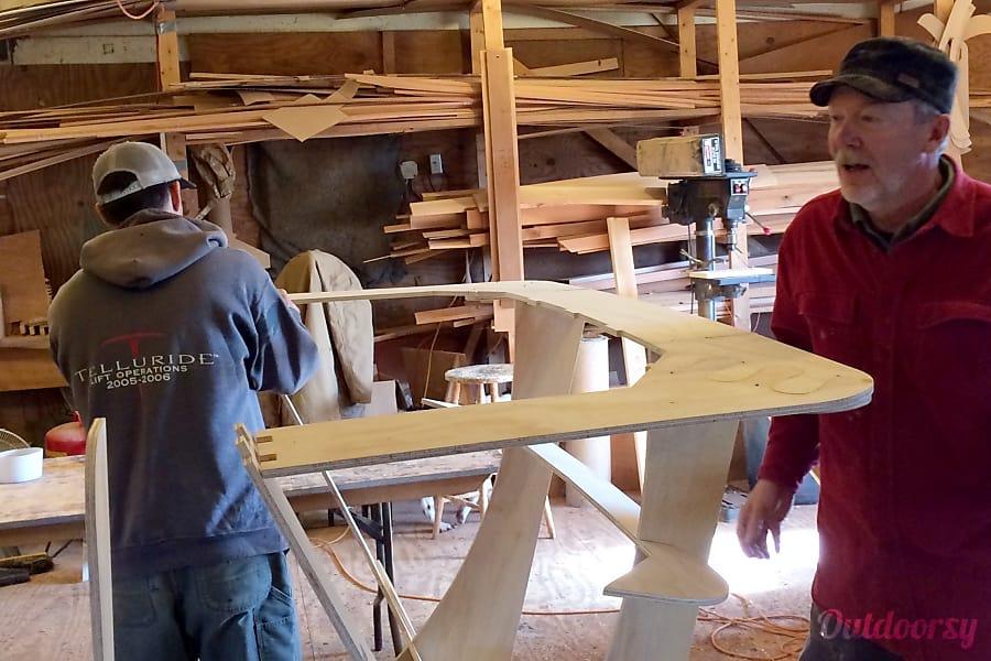 2015 Teardrop Camper Jackson, WY Building the mold.