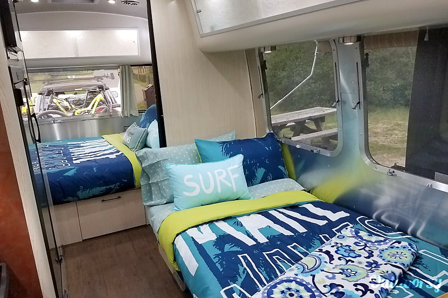 "interior 2017 Airstream Serenity International ""THE WAVE"" Oakland, CA"