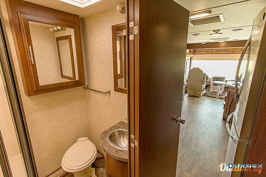 Forest River Georgetown - 36' Class A With Bunks Riverview, FL Guest bath