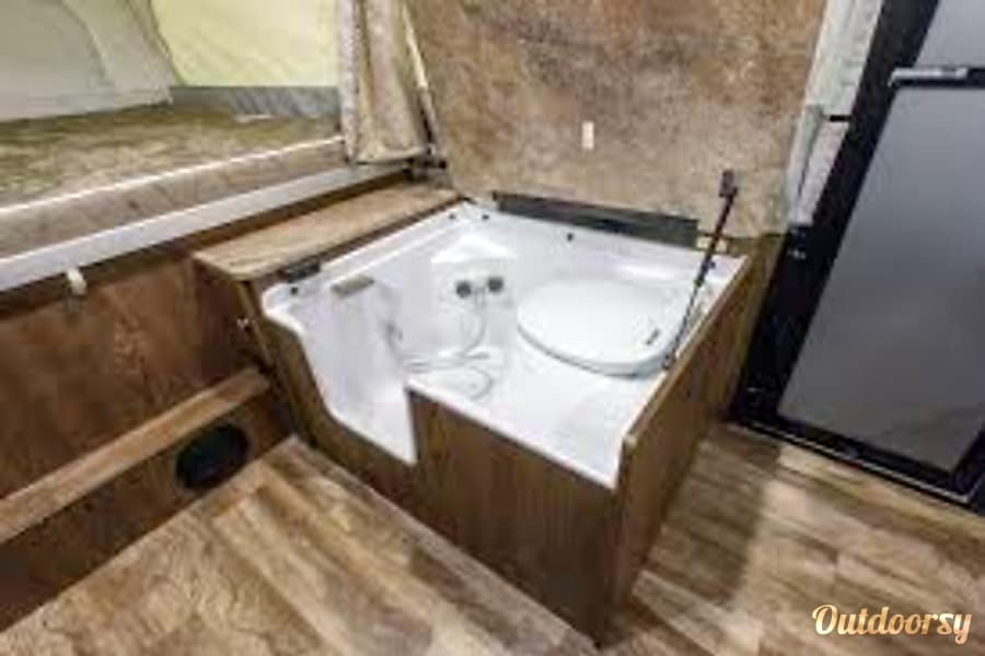Nancy Prescott, AZ Nancy has an indoor and outdoor shower and indoor potty of course
