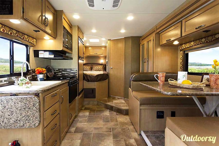 2017 Thor Motor Coach Chateau 24C Fullerton, California Interior Overview