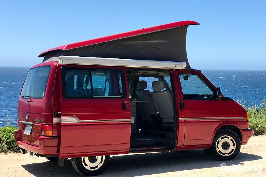 exterior HWY 1 Rentals: 1992 Volkswagen Westfalia Carmel, CA