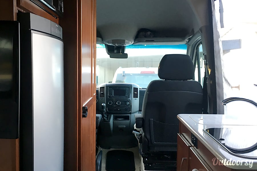 2017 Sprinter 19.5 Foot! Park Anywhere! Gorgeous! Loaded! Newport Beach, CA fridge, sink, stove with two burners, drawers and cabinets