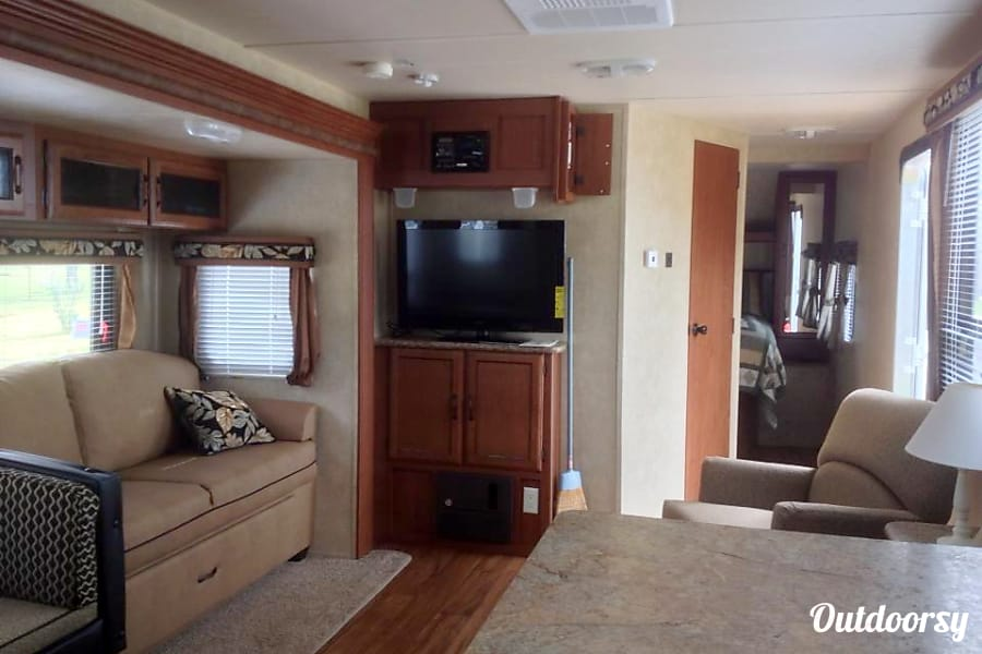 "interior ""Happy Camper"" 2013 Forest River Salem Cleveland, TN"