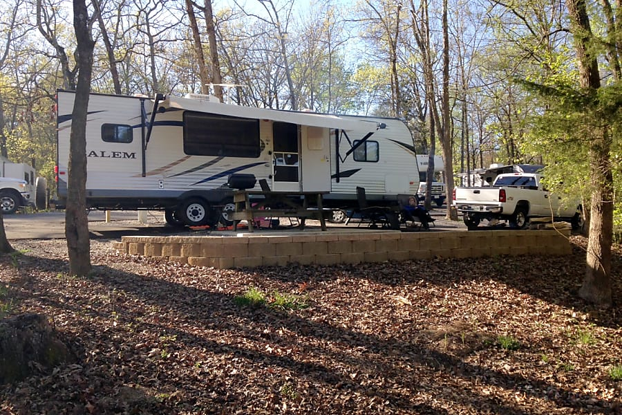 "exterior ""Happy Camper"" 2013 Forest River Salem Cleveland, TN"