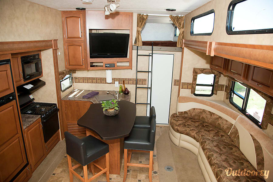 interior Keystone Raptor  3812TS Toy Hauler - Sleeps 10 Leawood, KS
