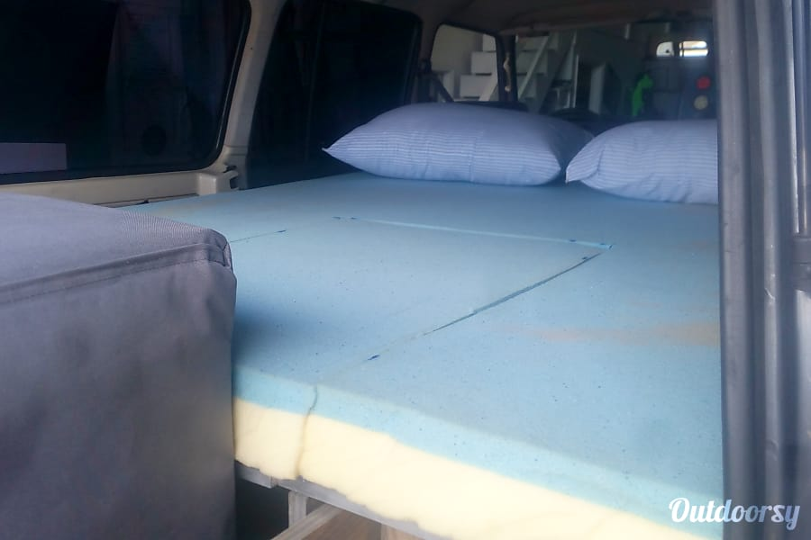 1988 Toyota Land Cruiser FJ 62 Golden, CO Bed in the rear of the Cruiser.
