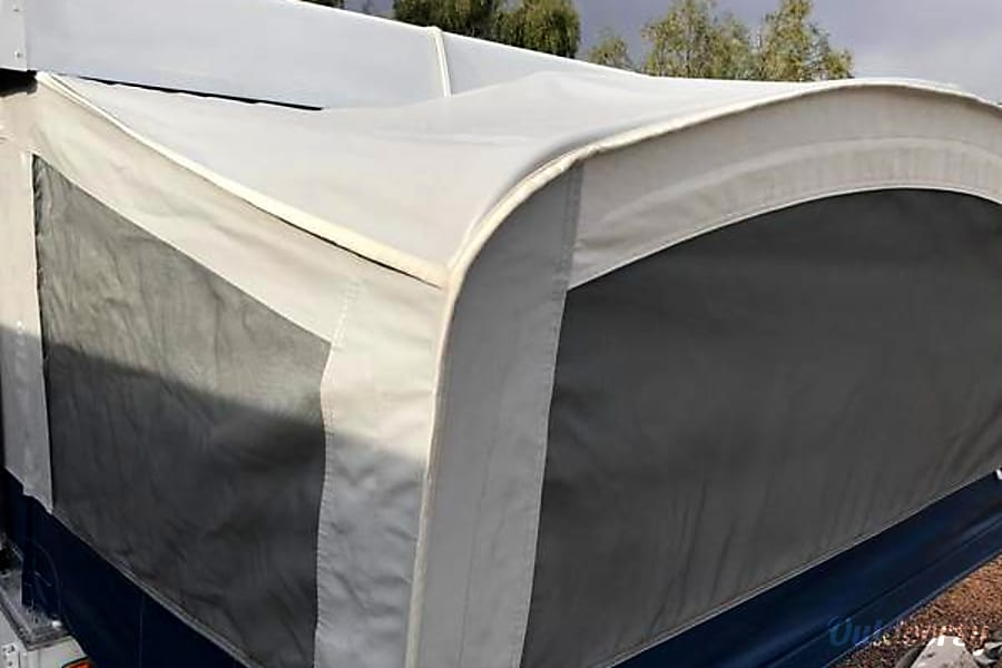Rent Very Clean Folding Travel Trailer, No Mileage Charge, Tow, Drop At Your Site and Explore your destination with your tow vehicle Las Vegas, NV