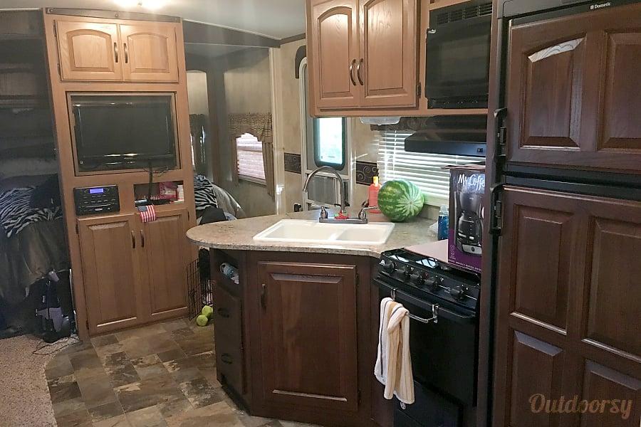 2012 Keystone Outback Sugar Land, TX Indoor kitchen.