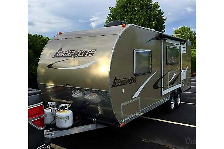 exterior 2014 Livin' Lite Camplite 21BHS *3350 lbs!  All Aluminum Clover, SC