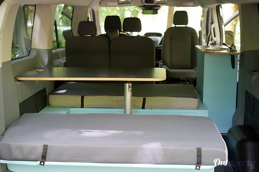 2016 Ford Transit Campervan #1 South San Francisco, CA Eat-in dinette with plenty of space to cook, enjoy great meals, or play card games. However you choose to spend your time!