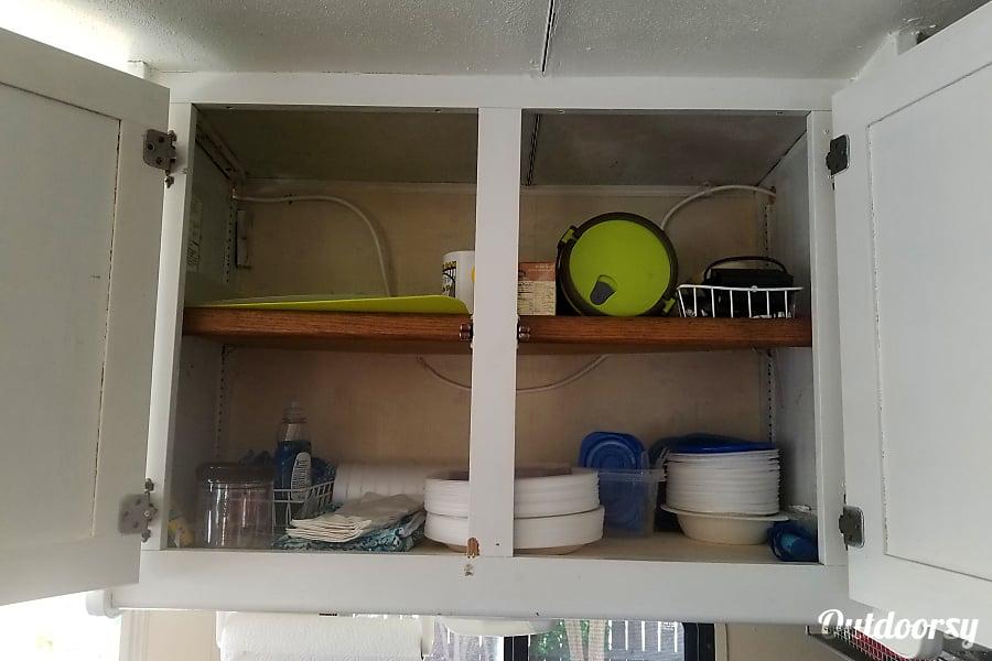 Restored Vintage Winnie Yuba City, CA Inside upper kitchen cabinet