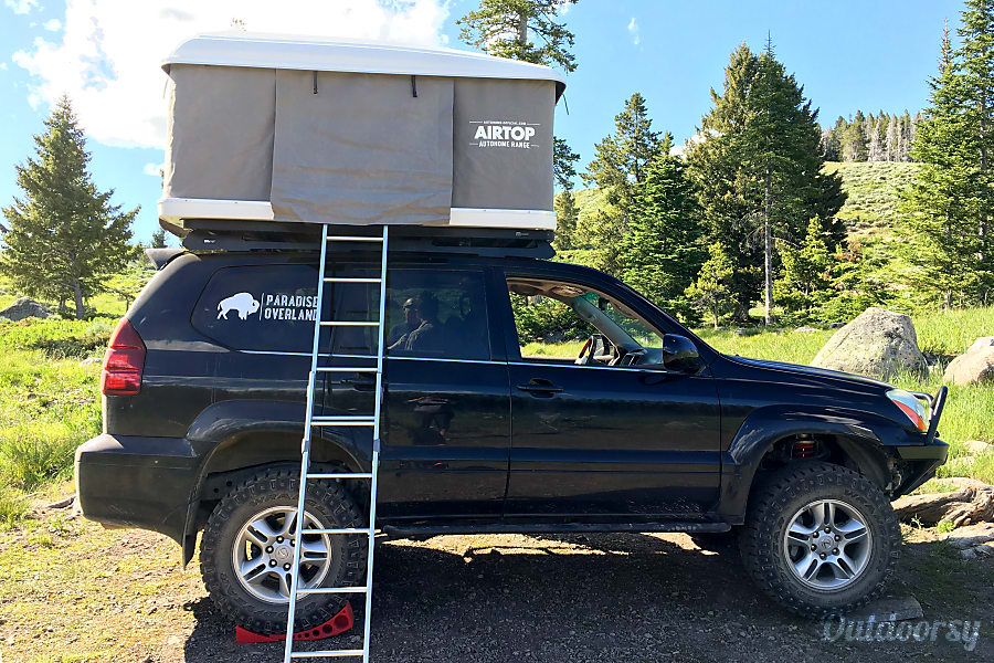 exterior Lexus SUV with Roof Top Tent Livingston, MT