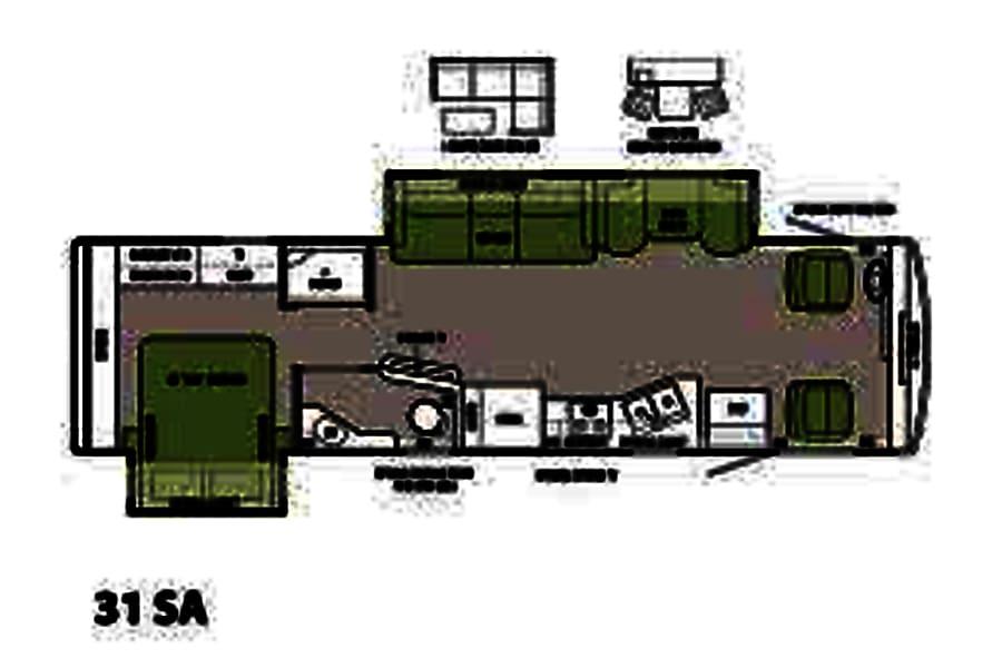 Magic Bus Lake Forest Park, Washington Floor plan.