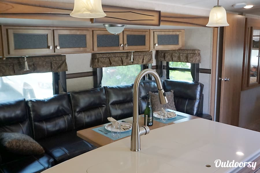 interior Luxury 2017 Rockwood Travel Trailer Bunkhouse with 4 slide outs San Marcos, CA