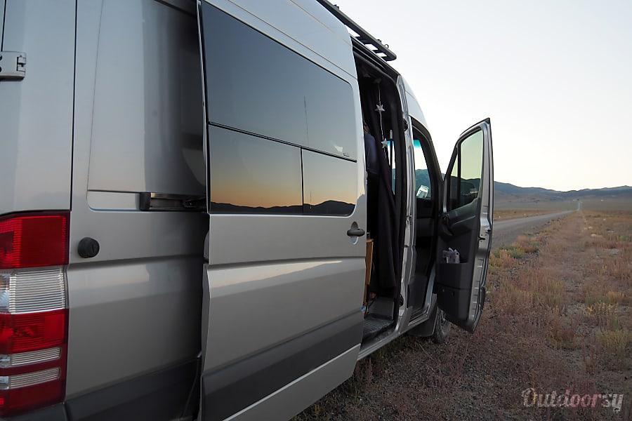 exterior 2015 Mercedes Benz Sprinter-The Silver Surfer Eco Van Santa Cruz, CA