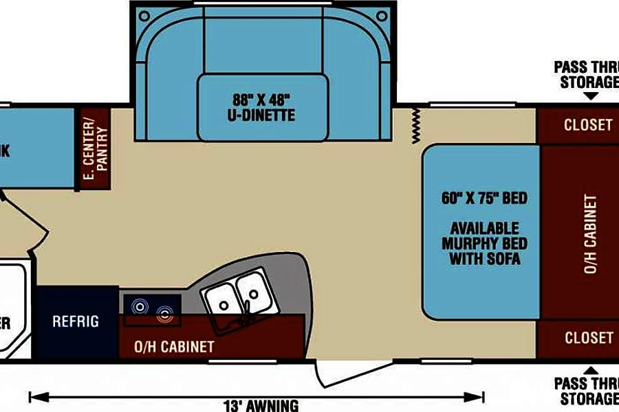 interior 2016 Venture RV Sonic Rexburg, ID